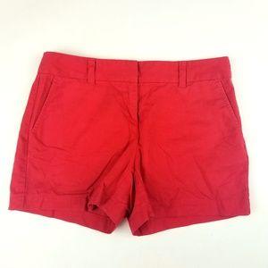 Womens Ann Taylor LOFT Bright Red Original Shorts
